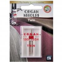 Игла двойная универсальная Organ Twin №80/4.0