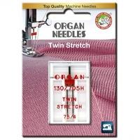 Игла двойная стрейч Organ Twin Stretch №75/4.0