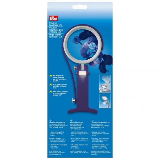 Лупа c лампой LED Prym 610380