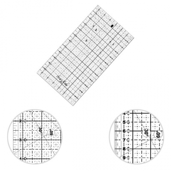 Лекала SewMate для пэчворка 16х32 см M1632-BK