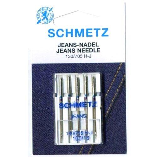 Иглы Schmetz Jeans №100 (5 шт.)