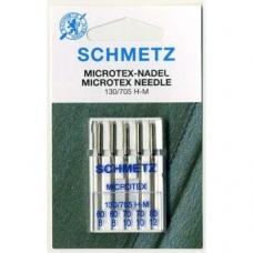 Иглы Schmetz Microtex №60-80 (5 шт.)