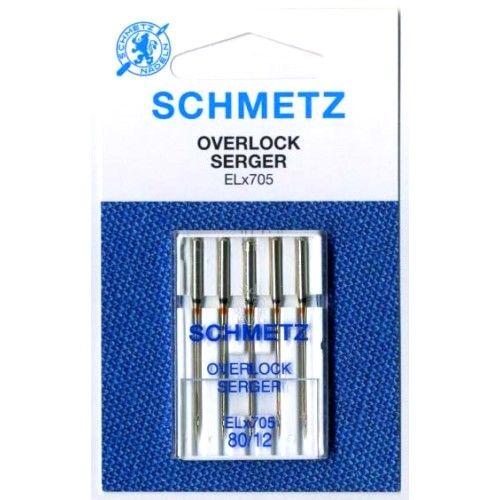 Иглы Schmetz Overlock ELX705 №80 (5 шт.)