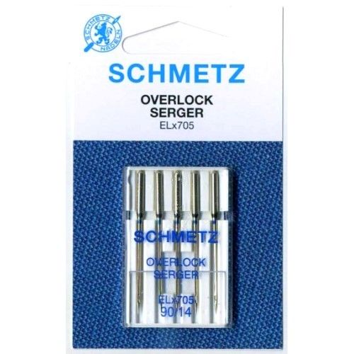 Иглы Schmetz Overlock ELX705 №90 (5 шт.)
