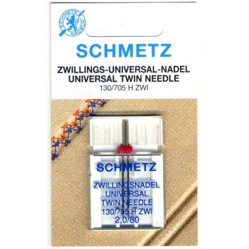 Игла двойная универсальная Schmetz Twin Universal №80/2.0