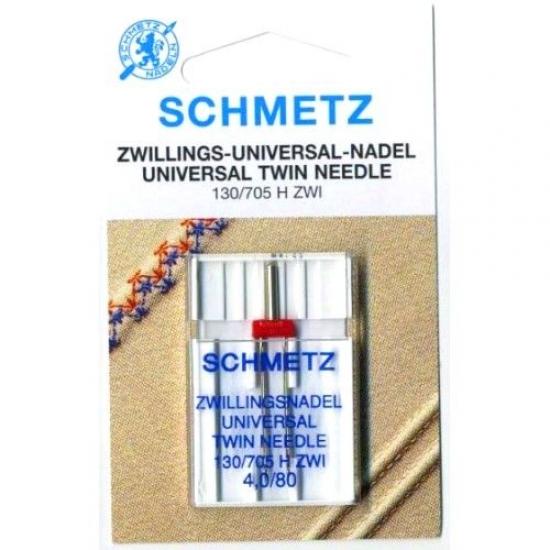 Игла двойная универсальная Schmetz Twin Universal №80/4.0