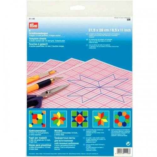 Трафаретные листы для шаблонов прозрачные Prym 611148