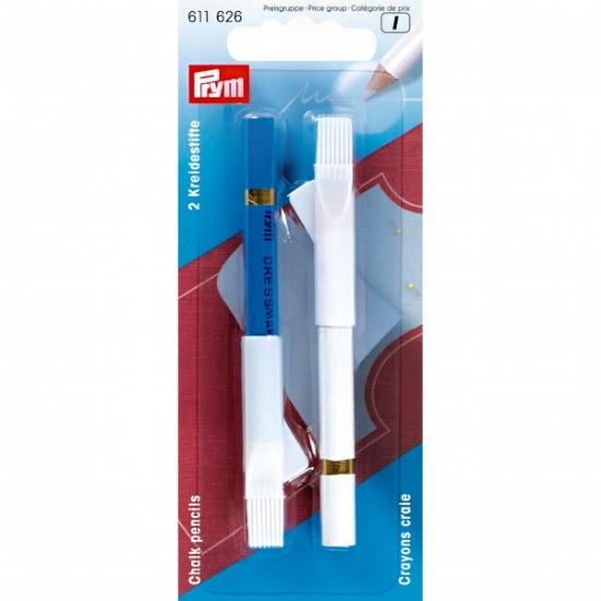 Карандаши меловые со стирающей кисточкой Prym 611627
