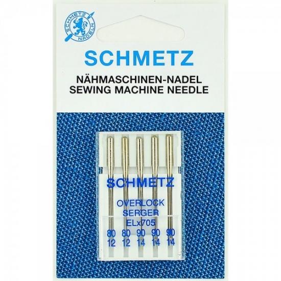 Иглы Schmetz Overlock №80-90 (5 шт.)