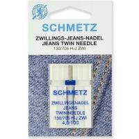 Игла двойная для джинса Schmetz Twin Jeans №100/4.0