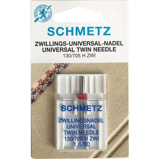 Игла двойная универсальная Schmetz Twin Universal №80/1.6